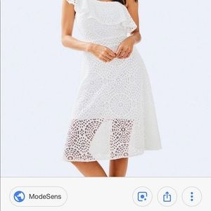 White lily pulitzer terry lace dress